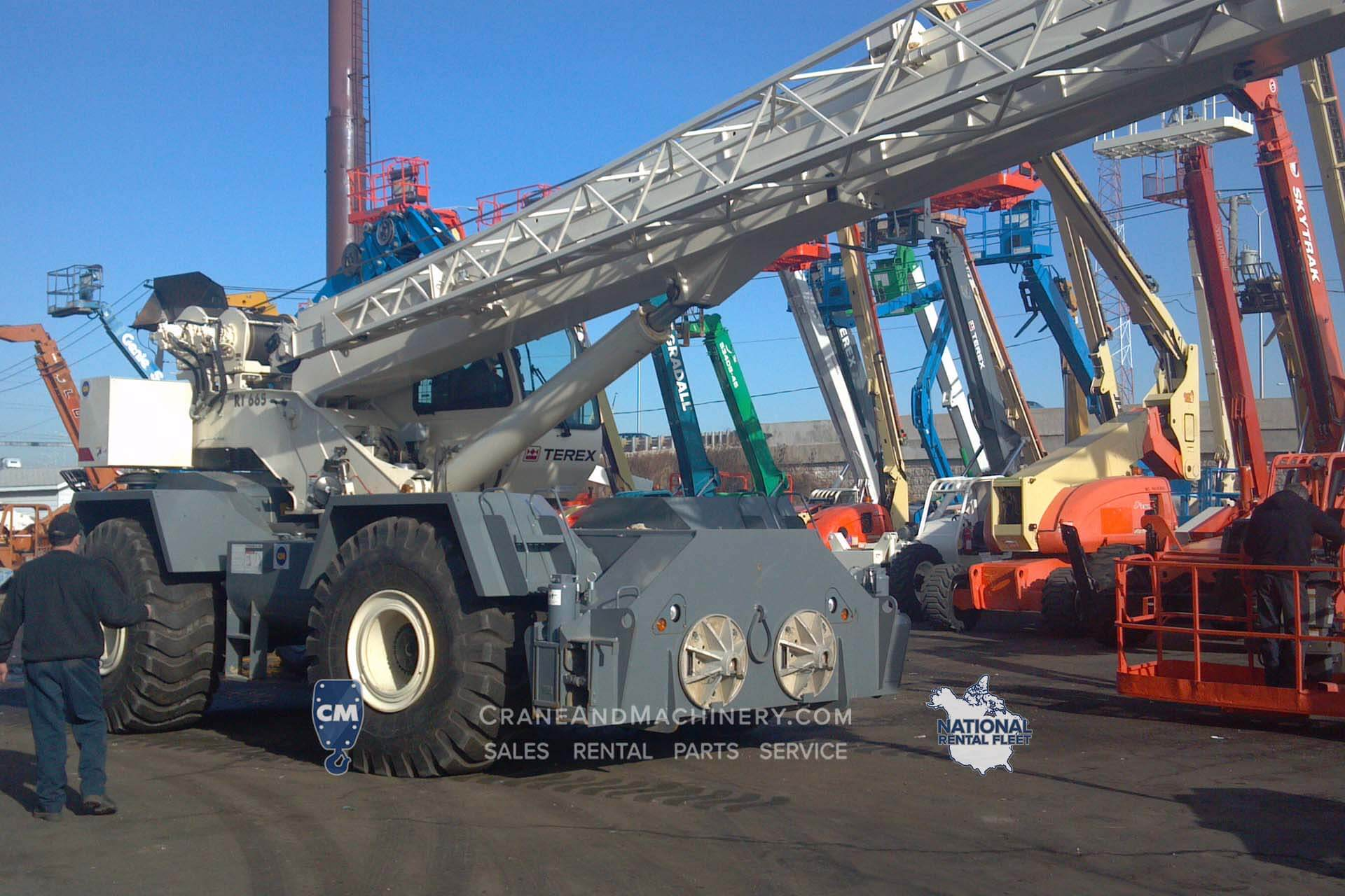 Terex RT665 Terex RT Crane rentals for Chicago, and North America. Long term and short term rentals available. Purchase new or used Terex RT cranes at Crane & Machinery